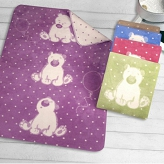 Koc Sweet Bear Greno 100x150 - Lawendowy